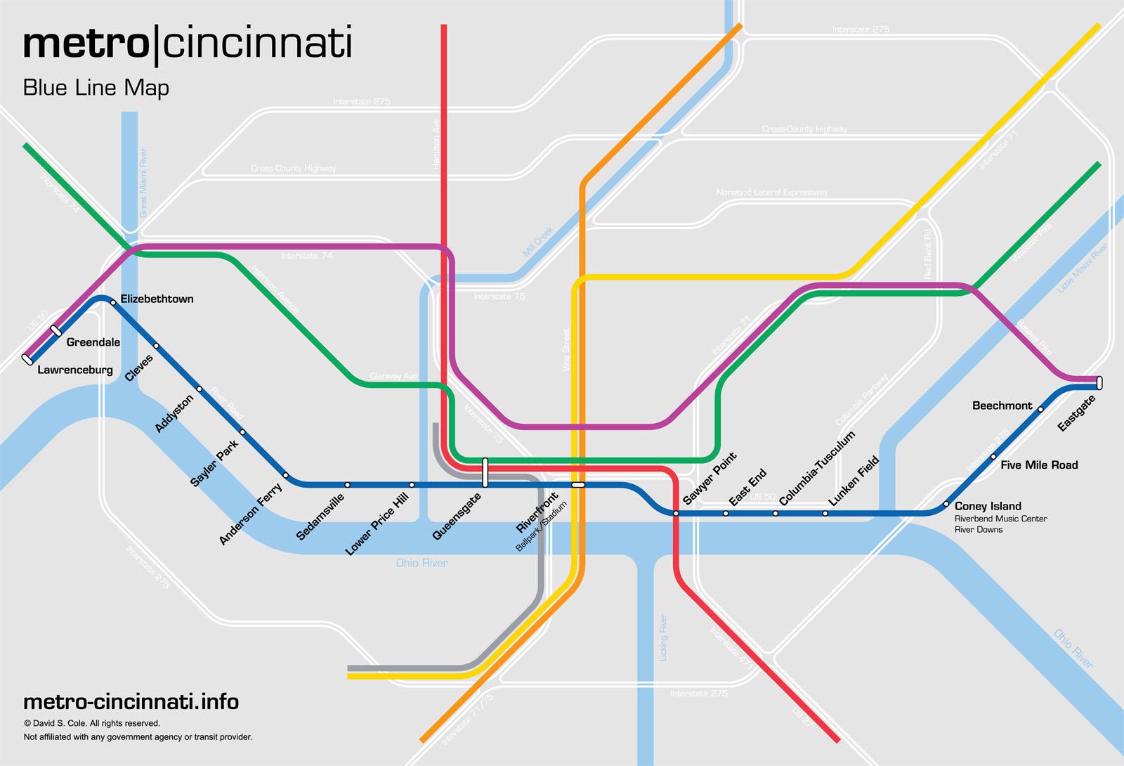 metro cincinnati Blue Line