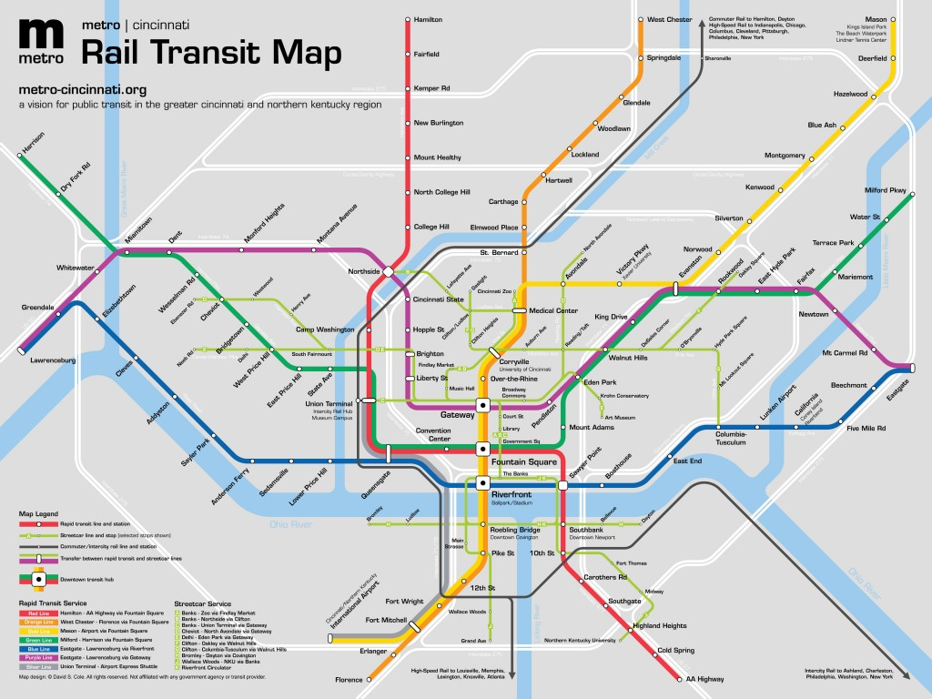 metro | cincinnati Diagram Map