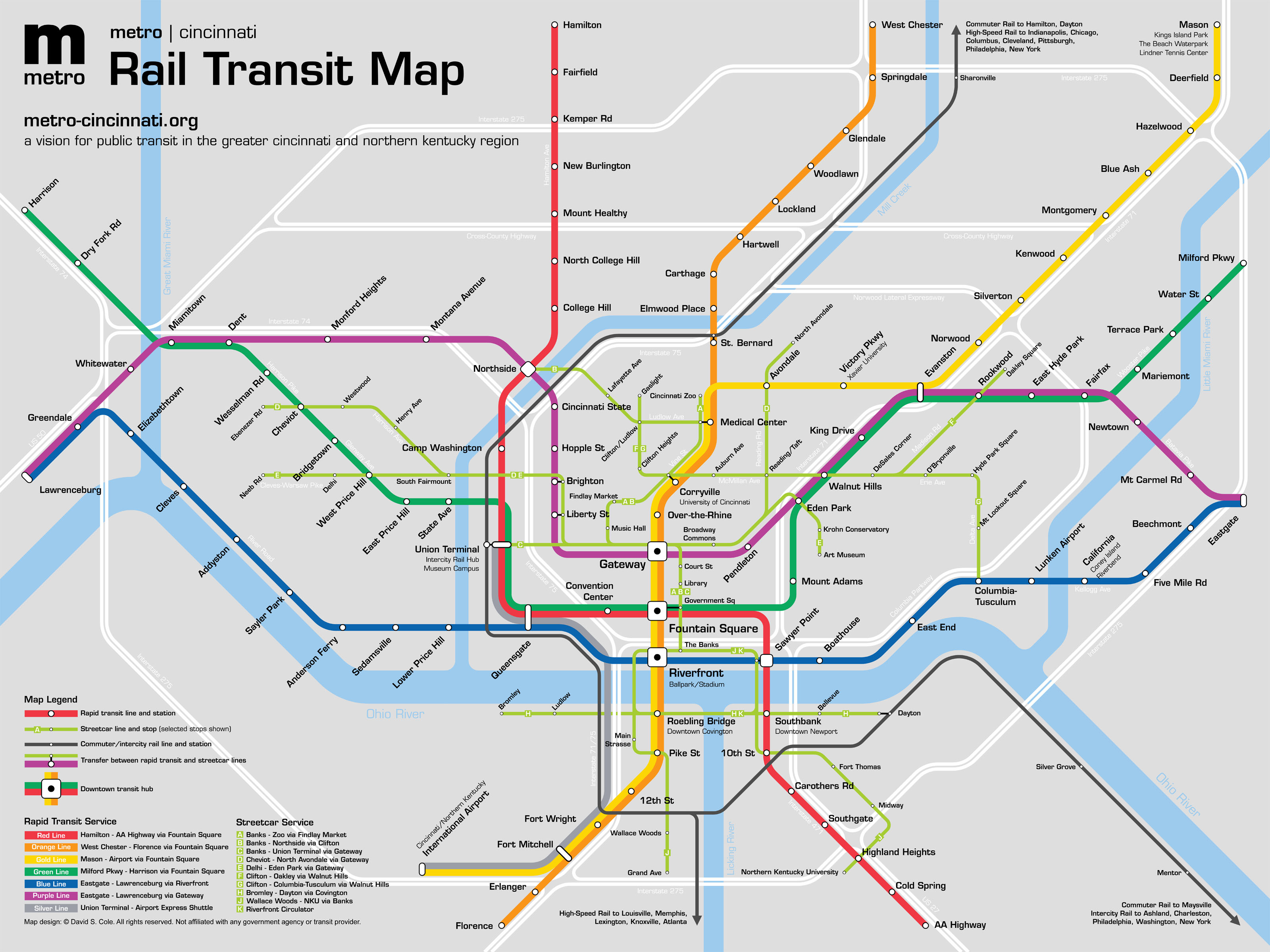 metro cincinnati Routes and Maps